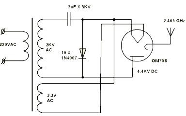 Схема подключения свч